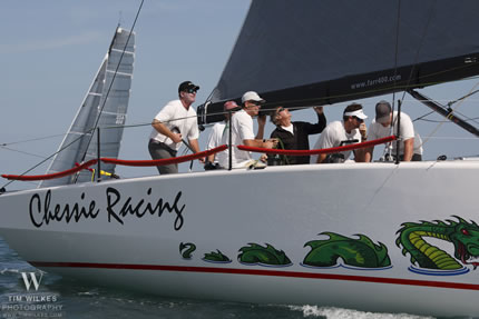 Photograph of Wiki Jones sailing in Quantum Key West 2012
