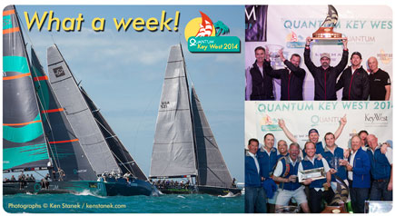 Photograph of boat racing at Quantum Key West 2014